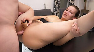 My 1st double intrusion with anal creampie l DADDYS LUDER