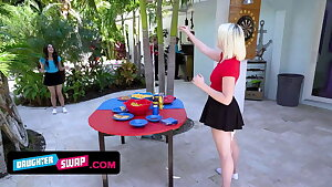 Attractive Teen Stepdaughters Entice Their Stepfathers