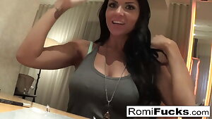 Home video sex in a hotel with sexy Romi