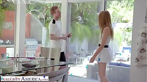 Naughty America - Tennis instructor gets lucky and fucks his client, Ashley Lane