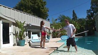 DON'T FUCK MY DAUGHTER - Latin Teen Nina North Plumbs Pool Fellow Bill Bailey