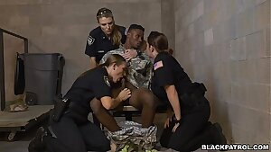 Fake Soldier Gets Used As a Fuck Toy by Female Cops in Uniform (xb15756)
