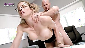 Steaming Blonde Milf with Big Globes Must Pummel Her Boss to Keep her Job - Cory Pursue