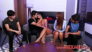 VIKA BORJA & GALI DIVA - BOYS Have fun AN EROTIC GAME OF CARDS WITH Marvelous MOMMYS