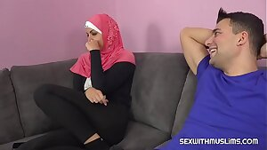 A horny man fucks his Muslim sister-in-law