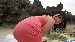 Point of view outdoor sex performance with Megumi Haruka