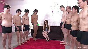 Big thick cocks attack Ria pretty little mouth leaving her wetting wet