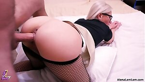 MILF Doggy style and Riding her co-worker, 4K (Ultra HD) - Alena LamLam