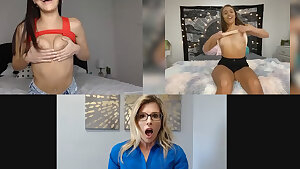 Emily Willis, Cory Chase & Gia Derza are showing their figures