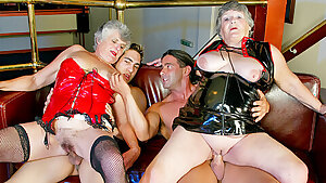 Two old grandmothers get drilled by younger guys