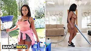 BANGBROS - My Sexy, Busty Maid Priya Price Gives Up Dat Azz For A Couple Extra Dollars