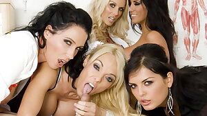 Medical center room orgy with Stacey Saran