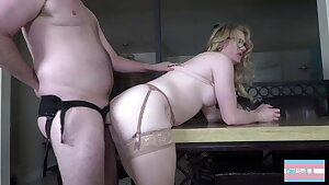Crossdresser cutie gets revved out and by multiple boners