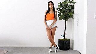 Latina With HOT Figure fucks very sensually