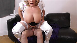 Camilla Fucks on the Sofa in White Boots Promo