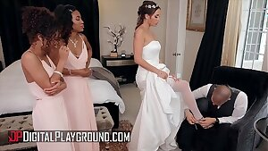 Bridesmaids (Demi Sutra, Desiree Dulce, Scarlit Scandal) lick pussy - Digital Playground