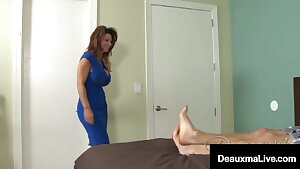 Busty Cougar Deauxma Jerks A Young Dick Full Of Cum!