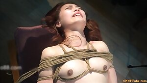 Enticing Chinese Model Outdoor Nude And Masturbation In BDSM Style