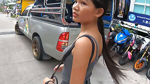 Real amateur Thai teen cutie fucked after lunch by temp BF