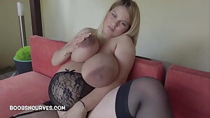 Heavily fluent with massive tits