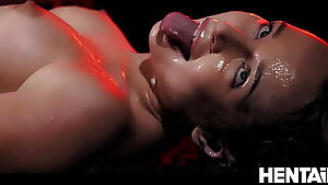 Extreme Cumflation - Hot Russian Ash-blonde got Fucked by Aliens and Pour out with Cum - Kaisa Nord