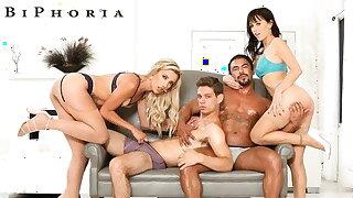 BiPhoria - Bisexual Swingers Trade Partners In Group Sex
