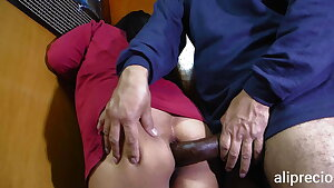 Upper case cock pierces my ass and I scream in pain and pleasure