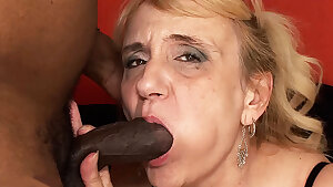 Big black dick destroyed a 74 year old mom
