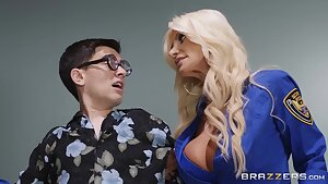 Busty MILFs Nicolette Shea and Brittany Andrews share whopping pecker