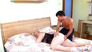 Curvy STEPMOM Touched and Woken Up by Youthfull Stepson to Fuck
