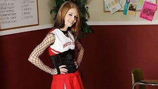 Petite Hot High School Cheerleader Fucked By Coach In Class