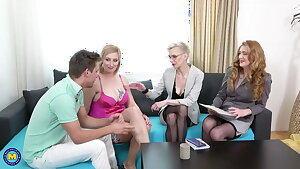 Mature moms hunt for youthful cocks