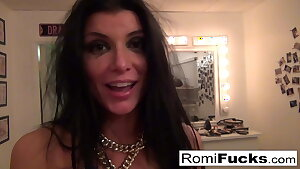Gonzo hook-up with porn starlet Romi Rain and Euro star Toni