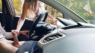 Public dick flash in car