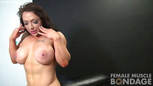 Dani Andrews and BrandiMae - Muscle Lesbians Roped Together