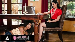 AllGirlMassage - Alex Coal Has Her Pussy Wet During A Meeting